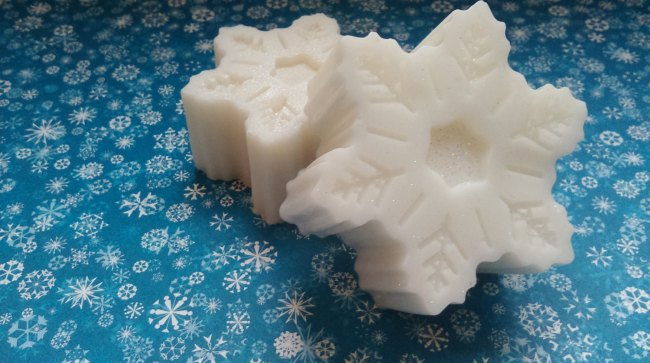 Sparkling Snow Flake Mini Soaps Winter Wedding Favors