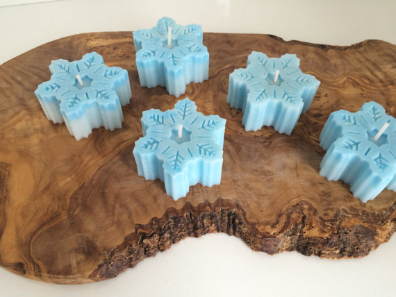 Snowflake Candles Winter Wedding Favors