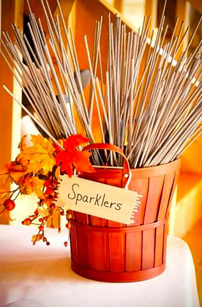 Sparkles Idea for Fall Wedding