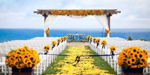 Sunflower Aisle Wedding Ideas