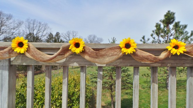 Sunflower Burlap Garland Wedding Decor Idea