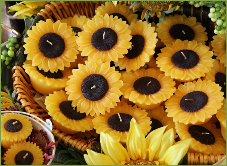 Sunflower Candles Wedding Invitation