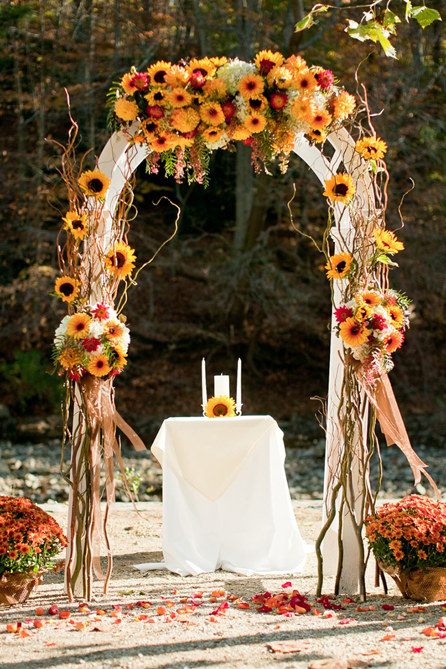 Sunflower Ceremony Arch Wedding Ideas