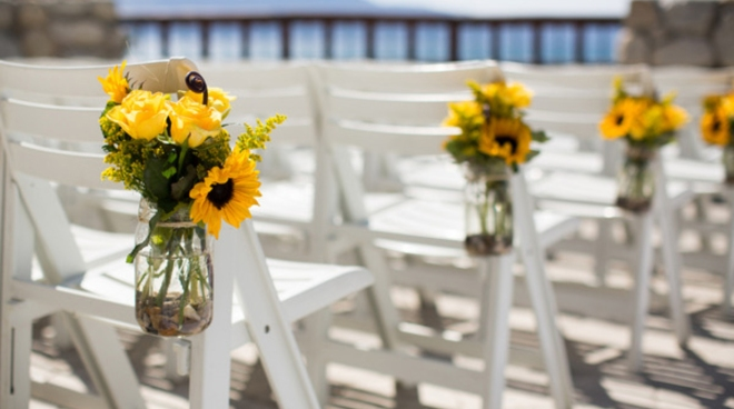 Sunflower Chairs Decoration Wedding Ideas