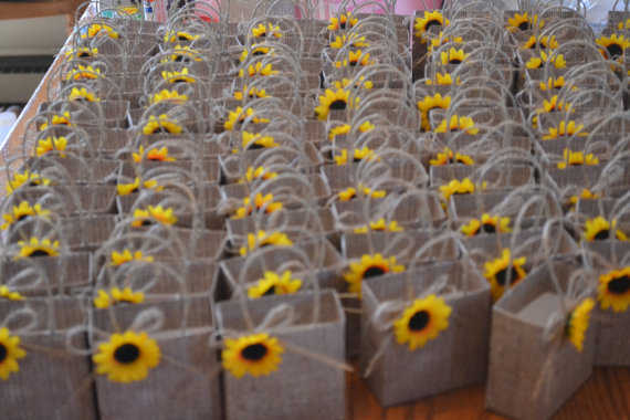 Sunflower Gift Bags Wedding Idea