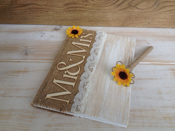 Sunflower Guestbook Wedding Idea