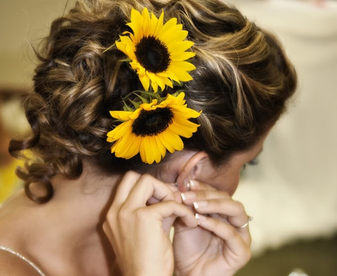 Sunflower Hair Wedding Ideas