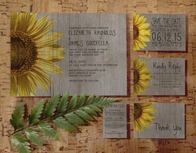 Sunflower-Inspired Wedding Invitation