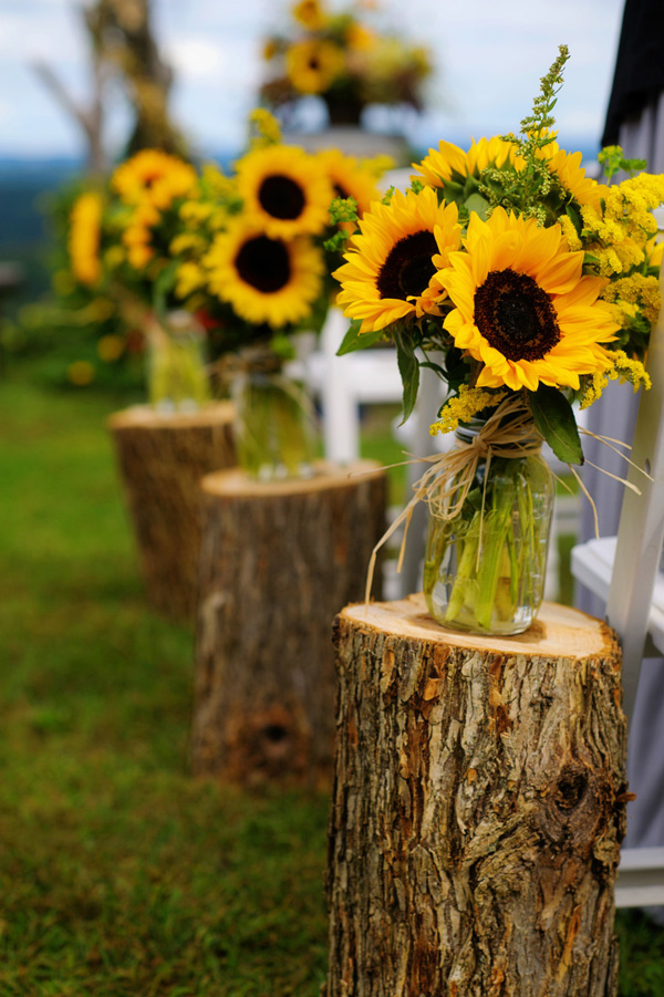 Sunflower-Inspired Wedding Chair Set-Up