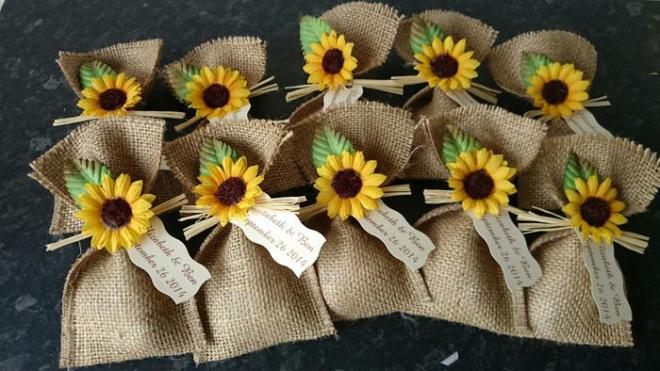 Sunflower Little Gift Bags Wedding Idea