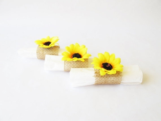 Sunflower Napkin Holder Wedding Ideas