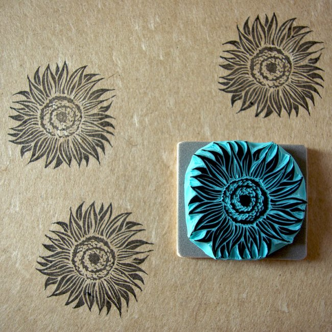 Sunflower Stamp Wedding Ideas