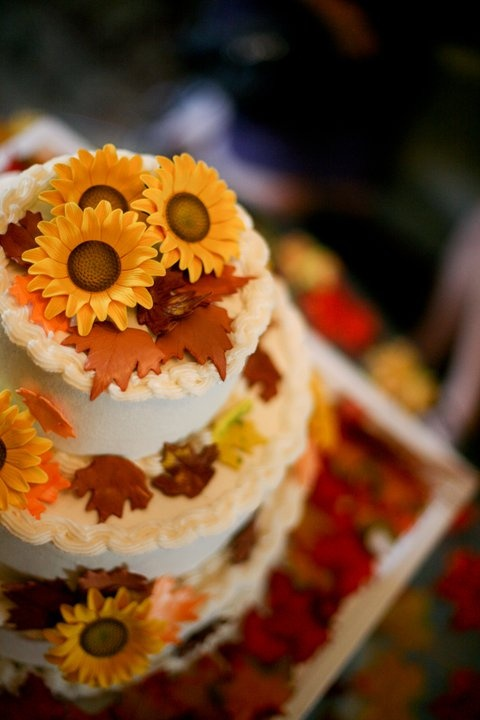 Sunflower Wedding Cake Ideas