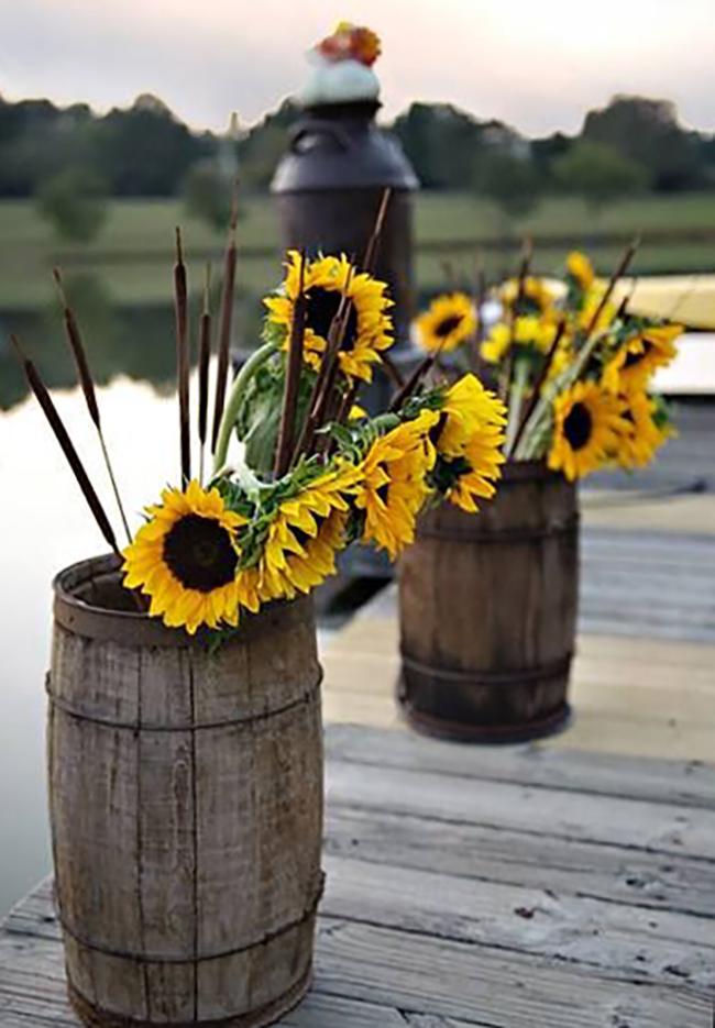 Sunflowers and Barrels Wedding Ideas