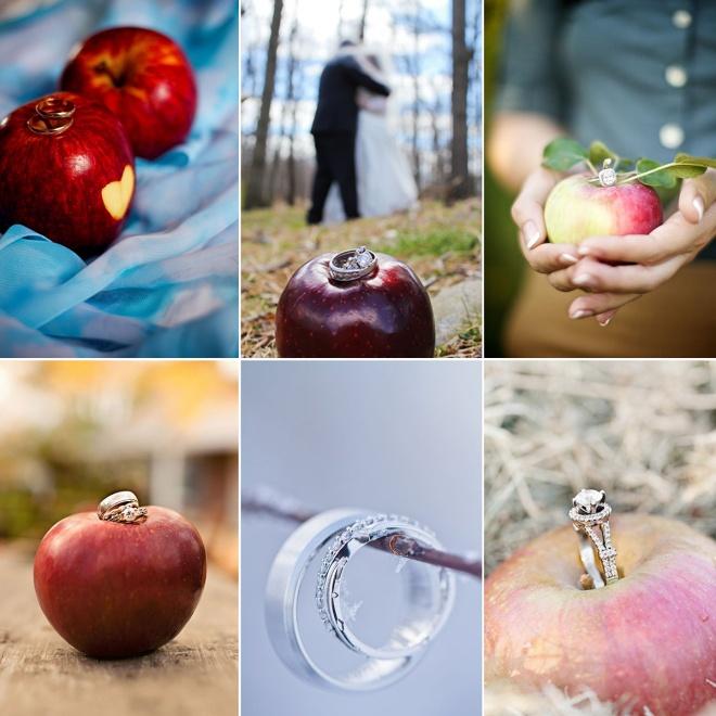 Wedding Ring on Apple Fall Apple-Themed Wedding Ideas Compilation