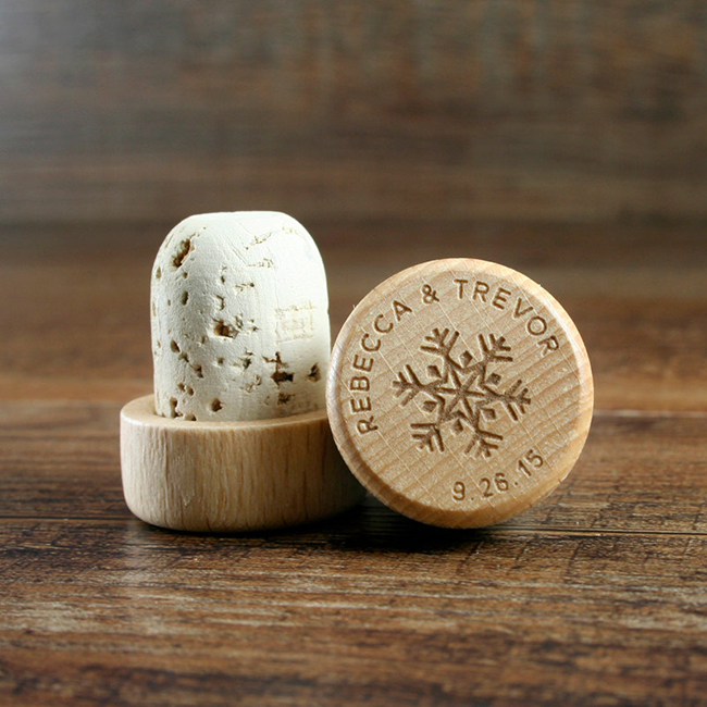 Wine Stopper Winter Wedding Favors
