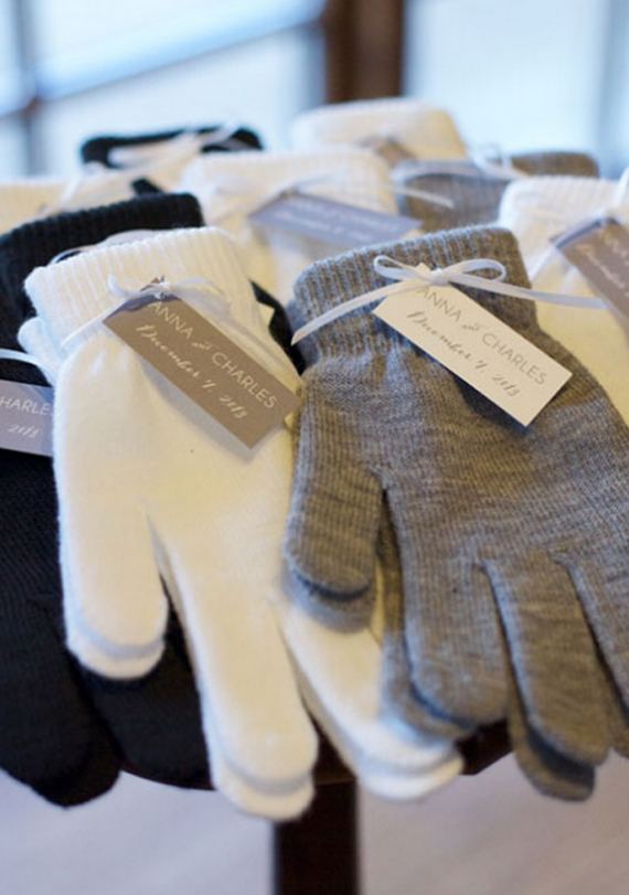 Winter Gloves Wedding Favor Fall Wedding Idea