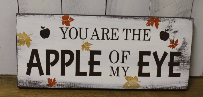 You Are The Apple Of My Eye Apple-Themed Wedding Sign