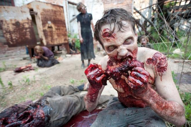 Zombie Feeding Halloween Wedding