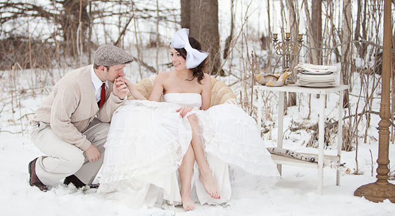 Winter Wedding Outdoor Ideas